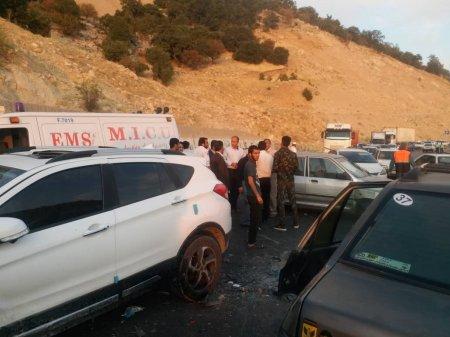 13 مصدوم طی دو تصادف در کهگیلویه و بویراحمد/تصاویر