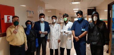 تلاش همه جانبه پرسنل بیمارستان امام خمینی(ره) دهدشت برای مقابله با ویروس کرونا+تصاویر