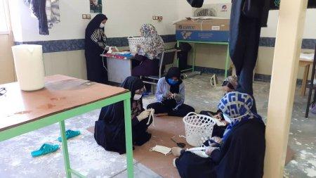 بزرگ ترین کارگاه تولید ماسک در شهرستان کهگیلویه راه اندازی شد/تصاویر