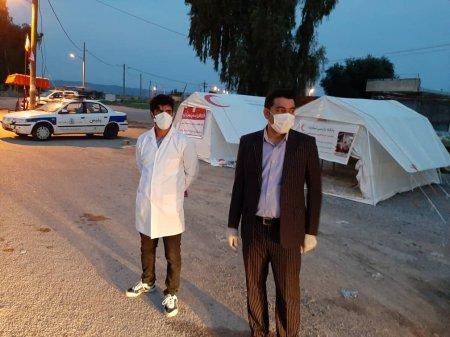 تلاش شبانه روز جمعیت هلال احمر کهگیلویه در ایستگاه های غربالگری/گزارش تصویری