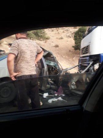 4 کشته و زخمی در پی برخورد پژو روآ با تریلی در محور یاسوج- اصفهان/تصاویر