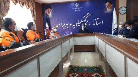 دیدار مدیرکل و معاونین راهداری و حمل و نقل جاده ای کهگیلویه و بویراحمد با استاندار+تصاویر