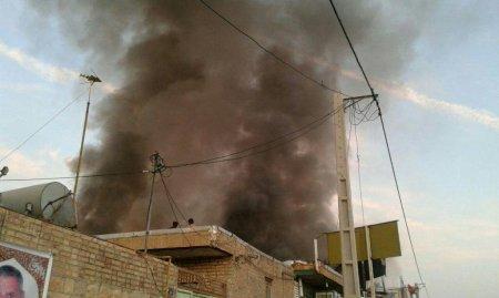 آتش سوزي ساختمان دو طبقه در دهدشت و خسارت ميلياردي !+تصاوير