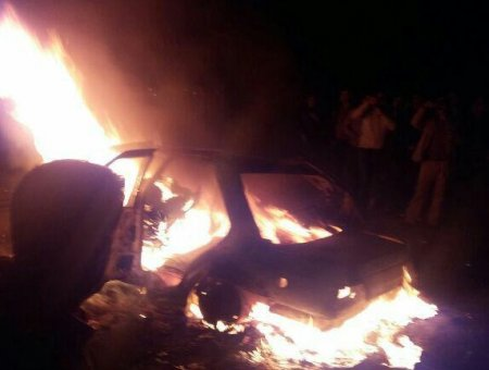 حادثه دردناک درمحور گچساران به ممسنی /راننده سمنددر شعلههای آتش سوخت+ عکس